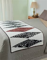 no time for a bed quilt try a quick bed runner blog hop