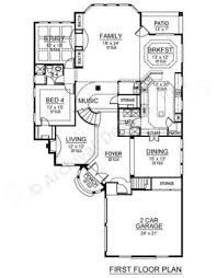 Narrow House Plans With Garage Calcutta House Plan Home Plans By Archival Designs