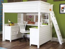 loft bed with desk and storage loft bed dresser combined drawers storage underneath checd fur rug the pink wall paint