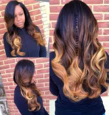 ombre weave 10 hairstyles for women 50 ombre weave caramel ombre