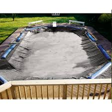 swimline super deluxe 35 u0027 x 50 u0027 rectangle pool solid winter cover