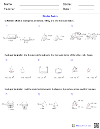 spheres surface area u0026 volume worksheets math aids com