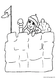 snow fort winter sf920 coloring pages printable