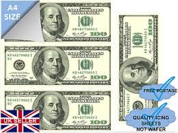 edible money buy 2 get 3 edible money 100 dollar bill actual size quality