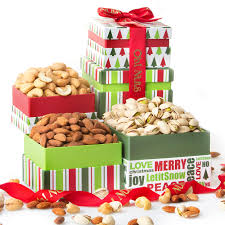 christmas nuts gourmet nuts gift tower nut gift baskets