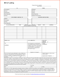Bill Of Lading Template Excel 6 Bill Of Lading Template Survey Template Words
