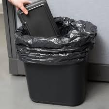 continental 2818bk 28 qt black rectangular wastebasket
