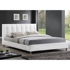 baxton studio vino modern upholstered full size bed headboard bed