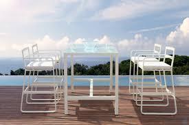White Pub Table Set - rita outdoor white bar table set