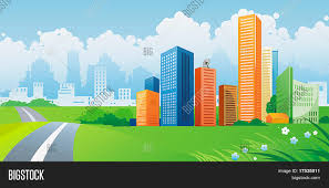 Colorful City Silhouette Colorful City Panorama Vector U0026 Photo Bigstock