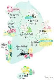 tulip festival map 남한 관광 지도 엽서 서울 평창 보령 안동 전주 담양 경주 보성 진해