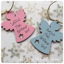 Baby S First Christmas Tree Decoration Personalised by Personalised Christmas Tree Decoration Wooden Angel Baby U0027s First