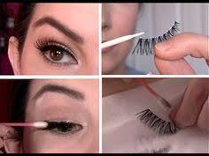 how to apply the false eyelash applying false eyelashes makeup