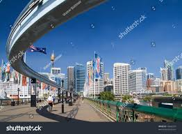 monorail darling harbour sydney wallpapers part sydney monorail city skyline back stock photo 12842233