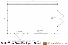 12 X 20 Barn Shed Plans Mell Gibshed 12 X 20 Barn Shed Plans Here