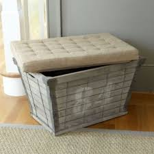 Rustic Storage Bench Multifunctional Wood Plank Storage Bench