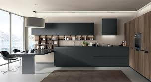 lain matt black modern contemporary fitted italian kitchen cabinets
