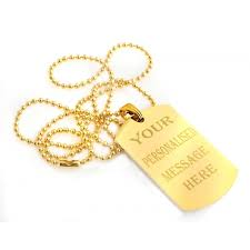 Engravable Dog Tags Gold 24 Plated Engraving Dog Tag
