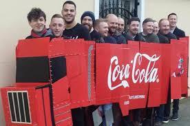 Coca Cola Halloween Costume Dress Pub Crawl Blokes Dress Coca Cola Lorry Pub Crawl