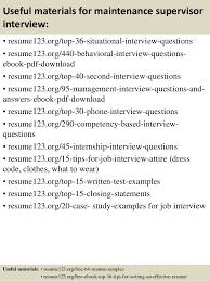 Maintence Resume Top 8 Maintenance Supervisor Resume Samples