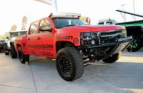 lifted gmc red the lifted trucks of sema 2014