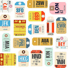 travel tags images Free printable airline tags airplane or travel party jpg