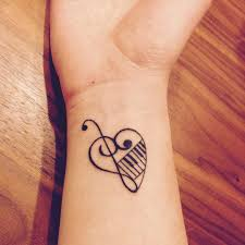 26 music heart tattoos designs ideas design trends premium