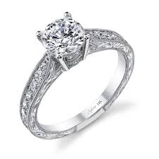 diamond engraved rings images Sylvie engagement ring sy982 jpg