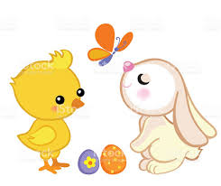 happy easter cute easter bunny and a cute stock vector art