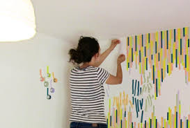 Washi Tape Wall Designs by Washi Tape Wall Tutorial The Symmetric