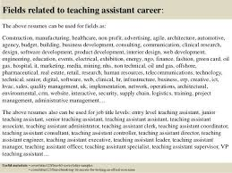 cover letter for a teaching assistant job teaching assistant
