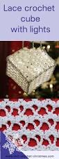 crochet cube decoration with lights free pattern crochet and