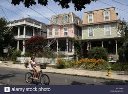 victorian houses cape may new jersey usa stock photo royalty