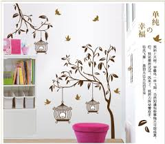 elegant removable wall stickers tree and birdcages home decoration giant wall decals for home decor decoration jpg