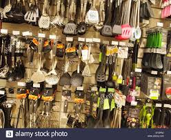 kitchen hardware on display in a department store stock photo