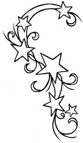 outline shooting star tattoo designs photo 1 2017 real photo