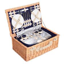 picnic basket set for 4 4 person navy picnic basket set cooler bag lining temple webster