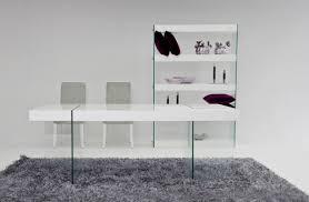 aura modern white floating dining table