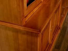 porte interieur en bois massif bibliothèque 2 corps 6 portes sabine en merisier massif de style