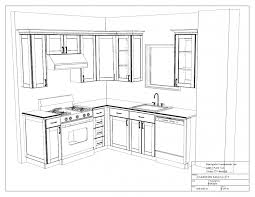 Interior House Drawing Kitchen Elegant Kitchen Room Drawing Interior Vector