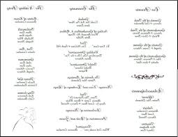 tri fold wedding program templates wedding programs exles bernit bridal