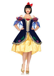 blue yellow 3 piece deluxe snow white costume amiclubwear