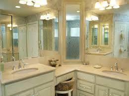 Traditional Vanity Lights Corner Medicine Cabinet Bathroom Farmhouse With Outlets Mounted