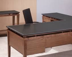 Black Glass L Shaped Desk by L Shaped Executive Desk Walnut Desk And Attached Return