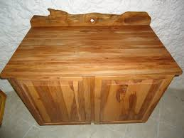 custom apple wood cabinet with butcher block top by galusha tiles custom made apple wood cabinet with butcher block top