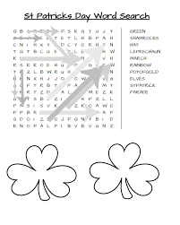 st patrick u0027s day word search free printable simply southern mom