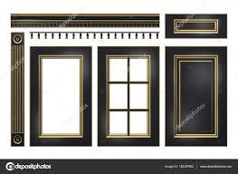 corniche cuisine noir et or porte tiroir colonne corniche pour armoires de cuisine
