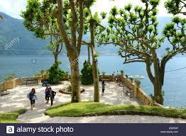 Lake Cuomo Italy Map by Villa Balbianello Garden Gardens Lenno Lake Como Italy Stock