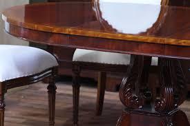 furniture fascinating reproduction mahogany extending dining