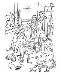 baby jesus in a manger pictures kids coloring